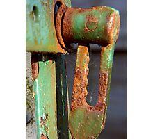 rusty latch ... Photographic Print