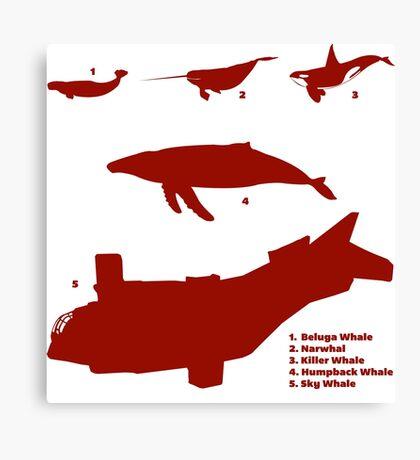 Whale Comparison Chart, TR Canvas Print