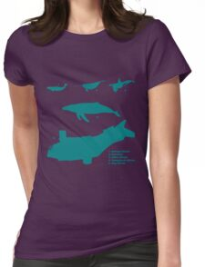 Whale Comparison Chart, VS Womens Fitted T-Shirt