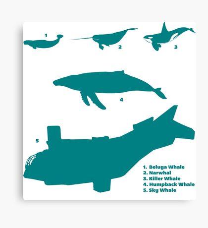 Whale Comparison Chart, VS Canvas Print