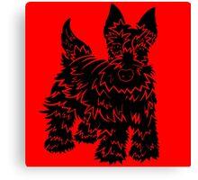 Shaggy Scotty Dog  Canvas Print