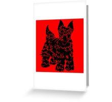 Shaggy Scotty Dog  Greeting Card