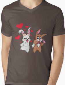 Bunny Valentine  Mens V-Neck T-Shirt