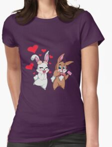 Bunny Valentine  Womens Fitted T-Shirt
