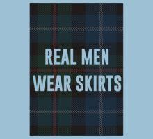 Real Men Wear Skirts (Light Shirts) One Piece - Short Sleeve