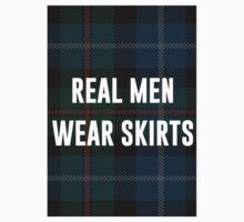 Real Men Wear Skirts (Light Shirts) Baby Tee