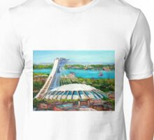 MONTREAL OLYMPIC STADIUM MONTREAL SKYLINE PAINTINGS Unisex T-Shirt