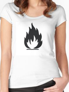 Highly Flamable  Women's Fitted Scoop T-Shirt