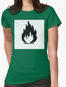 Highly Flamable  Womens Fitted T-Shirt