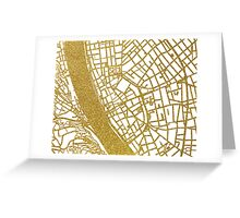 Budapest map Greeting Card
