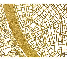 Budapest map Photographic Print