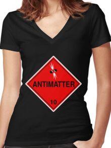 Antimatter: Hazardous! Women's Fitted V-Neck T-Shirt