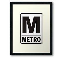 Metro Sign Framed Print
