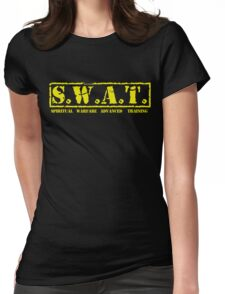 S.W.A.T. YELLOW Womens Fitted T-Shirt