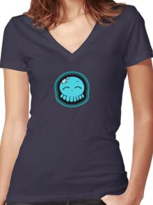 Happy Tako-Chan Women's Fitted V-Neck T-Shirt