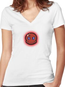 Tako-Chan Mad Women's Fitted V-Neck T-Shirt