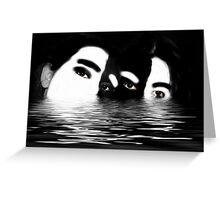 Going under with teenagers Greeting Card