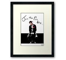 Jam The Pain Away... Framed Print