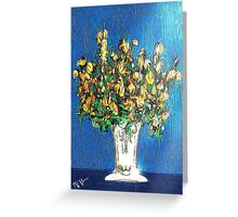 Yellow Floral Bouquet Greeting Card