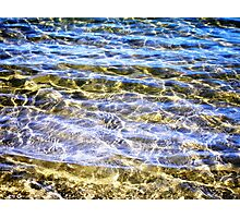 Golden Water Photographic Print