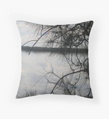 Silver Water Throw Pillow