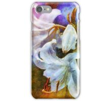 White Lily flowers iPhone Case/Skin