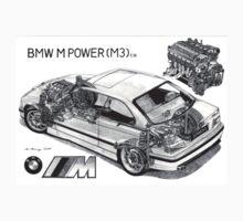 BMW M3 (e36) Cutaway T-Shirt