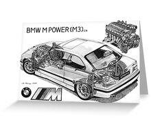 BMW M3 (e36) Cutaway Greeting Card