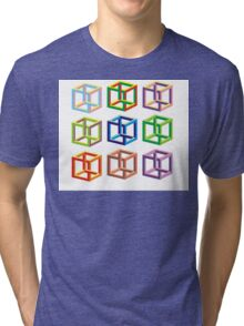 optical illusion  Tri-blend T-Shirt