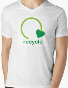 Recycle Sign Mens V-Neck T-Shirt