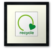Recycle Sign Framed Print