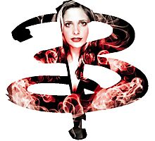 B - Buffy red fire Photographic Print