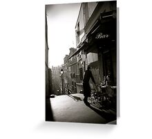 The Montmartre Cafe Greeting Card