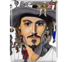 Johnny Depp no back iPad Case/Skin