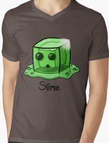 Slime Minecraft Mens V-Neck T-Shirt