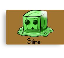 Slime Minecraft Canvas Print