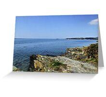 Portmeirion Beach HDR Greeting Card