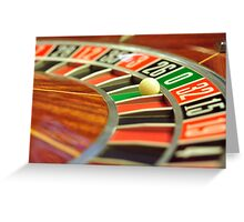 roulette wheel Greeting Card