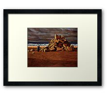 Foreshore Monument  Framed Print