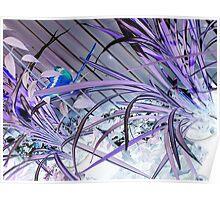 Purple Ice Poster
