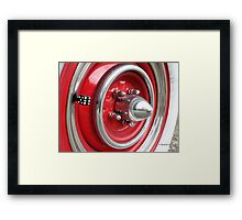 Red Classic Car Tire Spokes and Die Framed Print