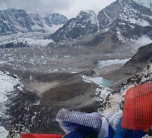 Kala Pattar above Gorak Shep. by Louise Levy