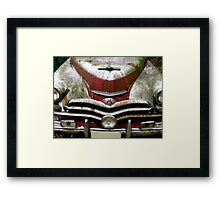 Red And White Blues Framed Print