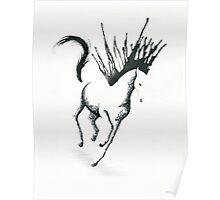 Sunlight Sonata: Minimal Abstract Galloping Horse Poster