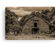 The Wind Whistles Through: Sepia Canvas Print