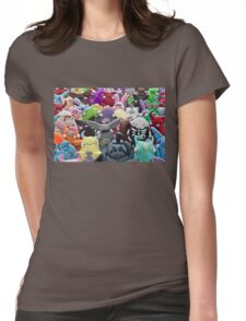 creepy collage Womens Fitted T-Shirt
