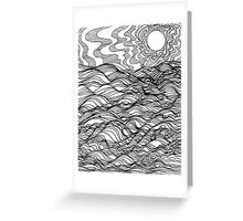 Desert Sun Set Greeting Card