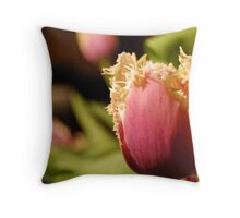 tulip and lace Throw Pillow