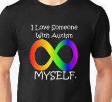I love myself (autism design white) Unisex T-Shirt