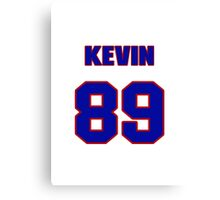 National football player Kevin Fitzgerald jersey 89 Canvas Print